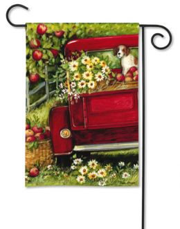 "Red Truck Decorative Garden and House Flag & Doormat (Select Flag or Doormat: 12.5"" x 18"")"