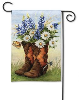 "Boots 'n Bonnets Decorative Outdoor Garden Flag & Doormat (Select Flag or Doormat: 12.5"" x 18"")"