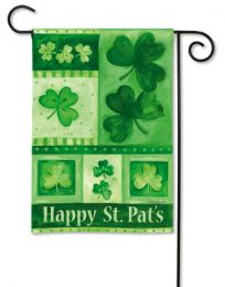 "Decorative House & Garden Flag or Doormat - Shamrock Collage (Select Flag or Doormat: 12.5"" x 18"")"