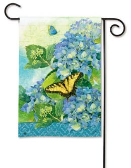 "Hydrangea Park Seasonal Flowers Flag & Mat Collection (Select Flag or Doormat: 12.5"" x 18"")"