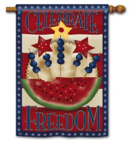 "American Picnic Fourth of July Flag or Doormat Collection (Select Flag or Doormat: 28"" x 40"")"