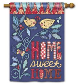 "Home Sweet Home Garden or House Flag & Doormat (Select Flag or Doormat: 28"" x 40"")"