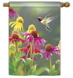 "Hummingbird Heaven Spring Nature Flag & Mat Collection (Select Flag or Doormat: 28"" x 40"")"
