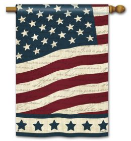 "Liberty American Flag Patriotic Garden or House Flag (Flag size: 28"" x 40"")"