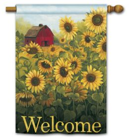 "Sunflower Farm Decorative Garden and House Flag & Doormat (Select Flag or Doormat: 28"" x 40"")"