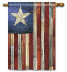 "Barn Star American Flag Patriotic Garden or House Flag (Flag size: 28"" x 40"")"