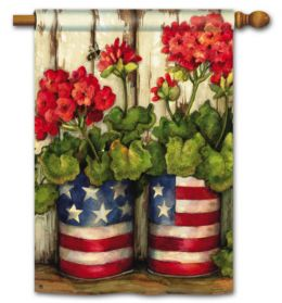 "Glory Garden Patriotic Seasonal Garden/House Flag & Doormat (Select Flag or Doormat: 28"" x 40"")"