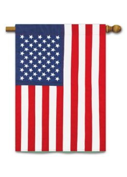 "Outdoor Decorative Garden or House Flag - American Flag (Flag size: 28"" x 40"")"