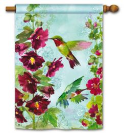 "Hummingbird Spring Seasonal Decorative Garden or House Flag (Flag size: 28"" x 40"")"