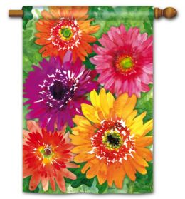 "Gerbera Daisy Spring Floral Doormat & Flag Collection (Select Flag or Doormat: 28"" x 40"")"