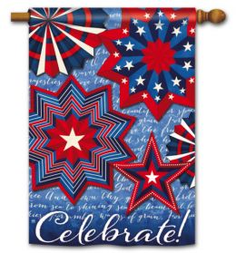"Celebrate America Patriotic Holiday Flag & Mat Collection (Select Flag or Doormat: 28"" x 40"")"