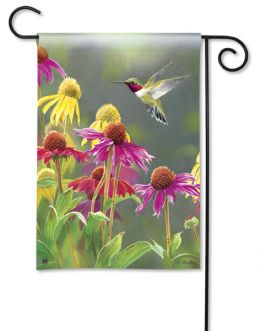 "Hummingbird Heaven Spring Nature Flag & Mat Collection (Select Flag or Doormat: 12.5"" x 18"")"